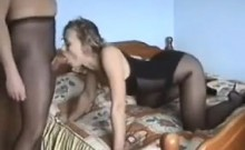 Russian Couple With A Pantyhose Fetish