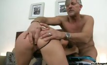 Tight body slut sucks mean cock then gets her ass pounded!