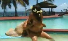 Natasha fucks in Paradise island by the sea shore !