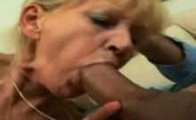 Naughty blonde granny so wet