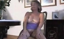 Sweet Granny Does A Striptease At Home